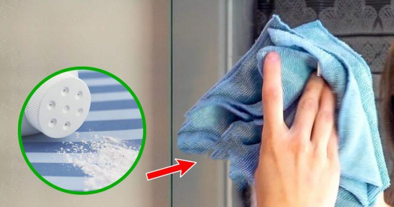 Come lucidare gli specchi del bagno col trucco del borotalco